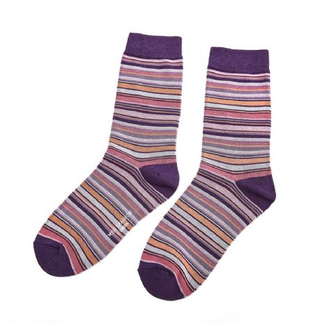 STRIPE SOCK PURPLE